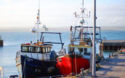 assurrance bateau : deux bateaux de pêche côte à côte sur un quai